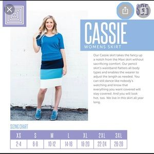 Lularoe Cassie Pencil Skirt